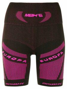 Misbhv branded stretch fit shorts - Black