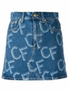 Chiara Ferragni CF denim skirt - Blue