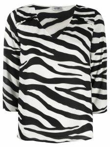 LIU JO zebra print blouse - Black