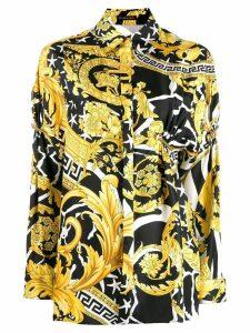 Versace Medusa clip baroque shirt - Black