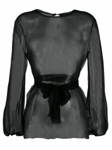 Gianluca Capannolo sheer long-sleeved blouse - Black