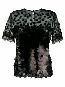 Ermanno Scervino square sequin shirt - Black
