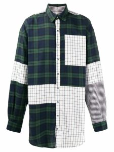 Faith Connexion oversized patchwork shirt - Green
