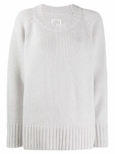 Maison Margiela crew-neck jumper - Grey