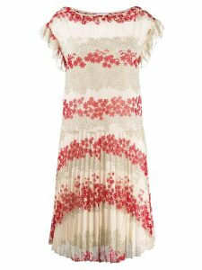 Red Valentino floral print shift dress - White