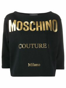 Moschino gold printed T-shirt - Black