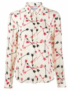 RedValentino arrow print shirt - NEUTRALS