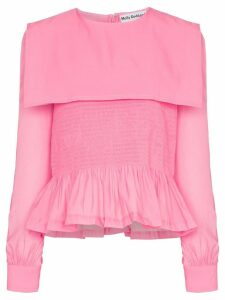 Molly Goddard Penny ruffle blouse - PINK