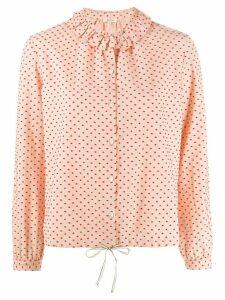 Bellerose ruffled dotted shirt - PINK