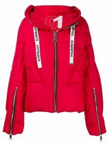 Khrisjoy logo drawstring puffer jacket - Red
