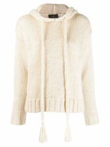 Alanui hooded jumper - Neutrals