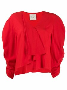 A.W.A.K.E. Mode Snail Princess asymmetric blouse - Red