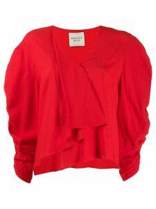 A.W.A.K.E. Mode Snail Princess asymmetric blouse - Red
