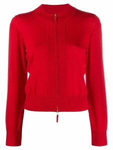 Paule Ka fitted zip-up cardigan - Red