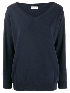 Brunello Cucinelli v-neck sweatshirt - Blue
