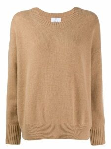 Allude fine knit sweatshirt - Brown