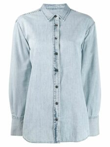 Closed button denim shirt - Blue