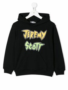 Jeremy Scott Junior logo print hoodie - Black
