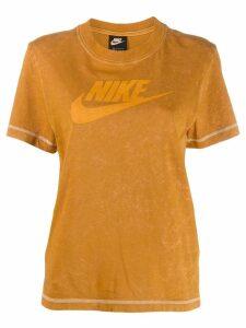 Nike printed logo T-shirt - ORANGE
