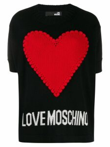 Love Moschino Hear knit jumper - Black