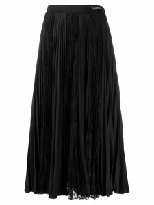 Valentino pleated lace skirt - Black