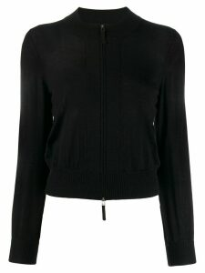 Paule Ka fitted zip-up cardigan - Black