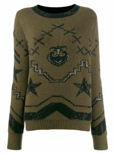 Ermanno Scervino cashmere embellished jumper - Green