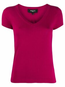 Paule Ka short-sleeved V-neck pullover - Purple