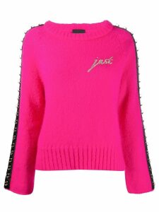 Just Cavalli ring embellished jumper - PINK