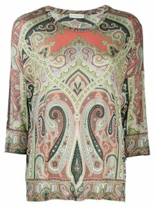 Etro paisley pattern top - Green