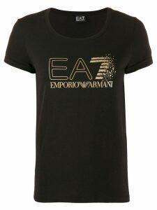 Ea7 Emporio Armani logo print T-shirt - Black