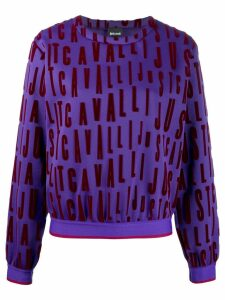Just Cavalli logo patch jumper - PURPLE