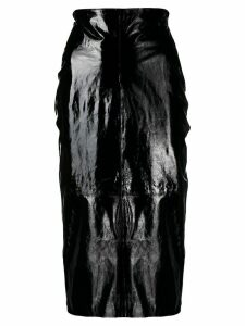 P.A.R.O.S.H. patent pencil skirt - Black