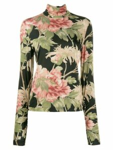 Zimmermann floral print top - Black