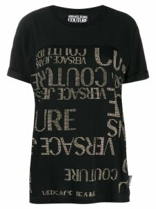 Versace Jeans Couture all-over logo T-shirt - Black
