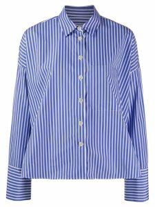 Odeeh casual pinstripe shirt - Blue