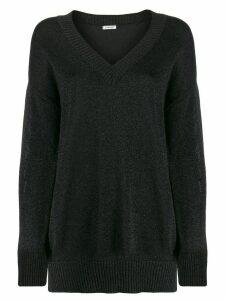 P.A.R.O.S.H. oversized shimmer jumper - Black