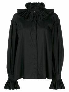 Just Cavalli ruff collar blouse - Black