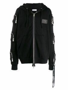 Faith Connexion NTMB oversized zip-up hoodie - Black