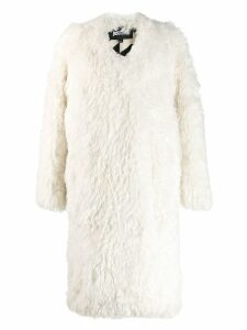 Just Cavalli oversized open coat - White