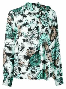 Pinko pussy bow floral print blouse - Green