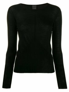 Lorena Antoniazzi fitted jumper - Black