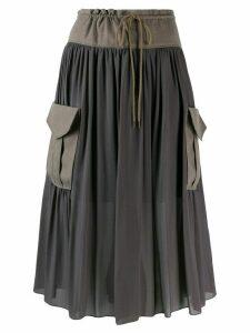 Chloé pocket detail midi skirt - Grey
