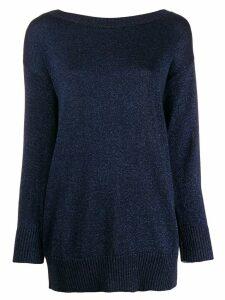 P.A.R.O.S.H. oversize shimmer jumper - Blue