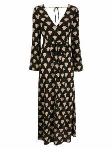 Rixo Nora seashell-print dress - Black