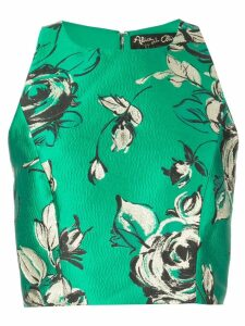 Alice+Olivia fitted crop top - Green