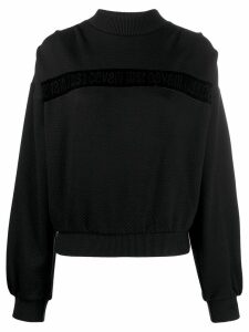 Just Cavalli velvet trim jumper - Black