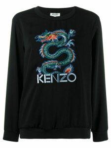 Kenzo embroidered dragon jumper - Black