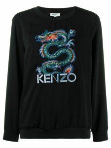 Kenzo embroidered dragon jumper - Black