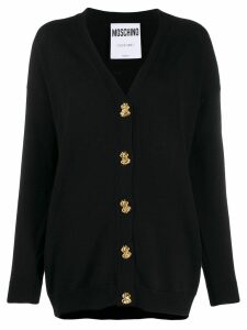 Moschino button-down fine knit cardigan - Black